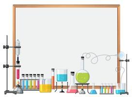 Grensmalplaatje met wetenschapsmateriaal
