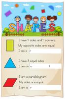 A Mathematics Worksheet Shapes Chapter