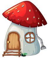 Pilzhaus auf weißem backgroud