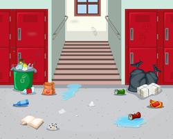 Corredor da escola interior sujo