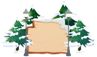Un banner de tema de invierno.