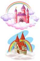 A Set of Beautiful Fairy Tale Castle vector