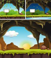 Een set van Banner in de natuur