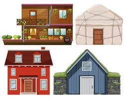 Set of different house vector