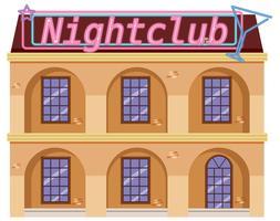 Äußeres eines Nachtklubs