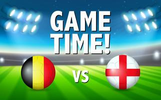 Um modelo de futebol da Alemanha contra a Inglaterra