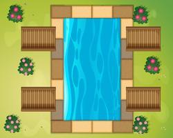Kleiner Pool im Park