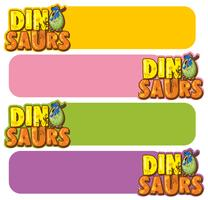 Banner template with dinosaur eggs