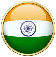 India flag design on round badge