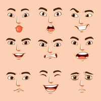 Different facial expressions of human vector