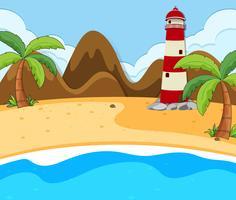 Uma cena de verão na praia