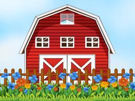 Uma cena de casa de fazenda