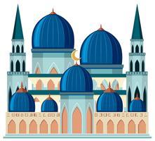 Een mooie blauwe moskee