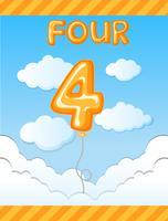 Numero quattro modello di palloncino