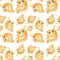 Gato amarillo de patrones sin fisuras