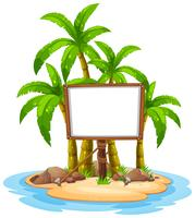 White board on island vector