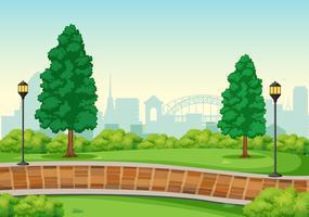 An urban peak background