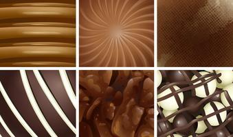 Sechs köstliche Schokoladenunterschiede