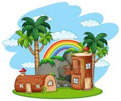 Casa de madera de seta encantada