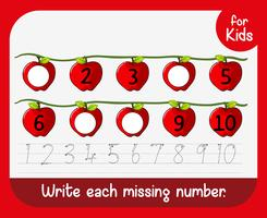 Write missing number worksheet