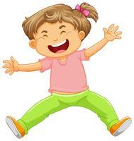 Un bambino felice su sfondo bianco