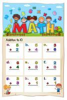 Math worksheet for addition