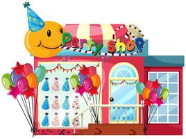 A party shop on white background