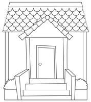 Simple modren house outline