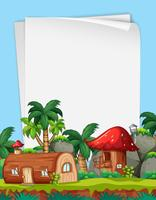 Blank border with magic land theme