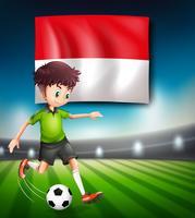 Concept de joueur de football en Indonésie