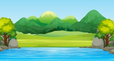 A beautiful flat landscape vector