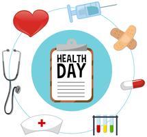Design de pôster para o dia da saúde