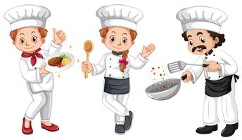 Three characters of chefs