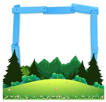 A wooden nature frame