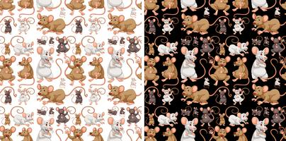 Seamless background design with mice