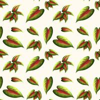Beautiful leaf seamless pattern