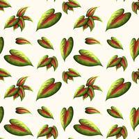 Beautiful leaf seamless pattern