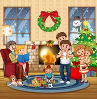 Stor familj i huset