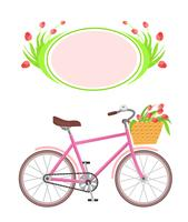 Bicycle and frame flowers