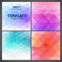 Abstract geometric backgrounds of a triangle. vector