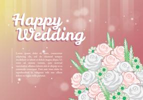 Feliz casamento saudações design