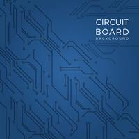 Flat Modern Blue Printed Circuit Board Vector Background