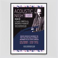 Vector Acoustic Concert Poster Template