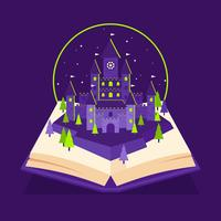 Wizard School Castle Pop Up Book vector
