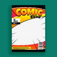 comic book magazine cover page design template