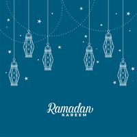 hanging islamic lantern decorative ramadan kareem background