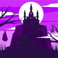 Wizard School Castle Illustration