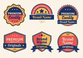 Retro Label Vector Pack