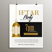 Ramadán iftar fiesta celebración elegante plantilla