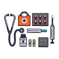 Healthcare Items Vector